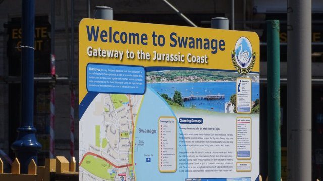 Swanage station sign