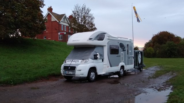 pitched up